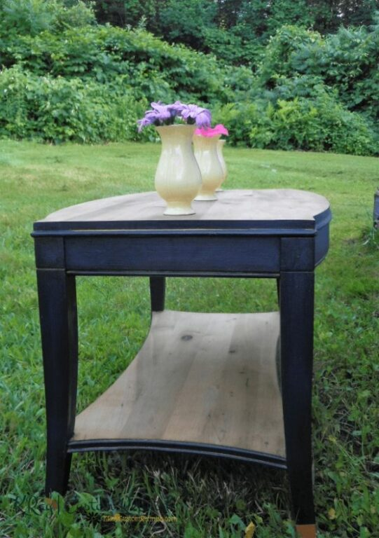 Navy Coffee Table Layered Paint