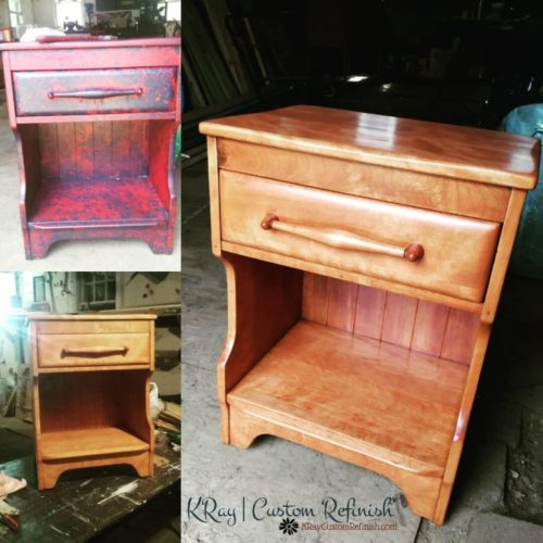 Cushman Colonial Creations Side Table Before and After